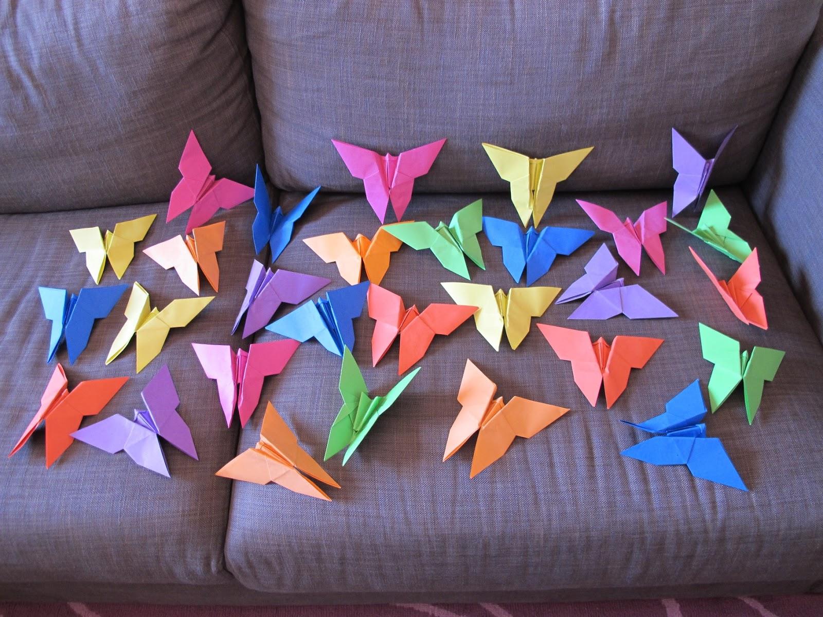 Angolino di liana decorazioni battesimo fai da te farfalle di origami - Decorazioni battesimo fai da te ...