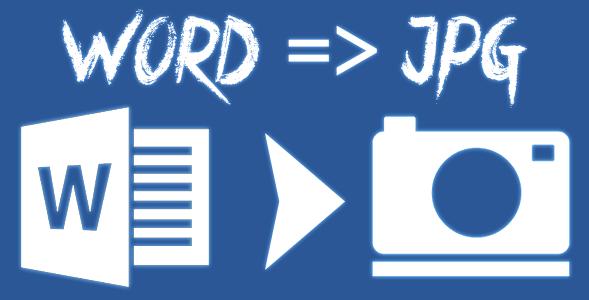 Cara Merubah Dokumen Word Ke JPG (Gambar)