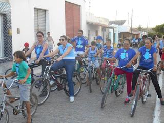 """Sossego comemora """"Novembro Azul"""" com passeio de bicicleta pelas ruas da cidade"""