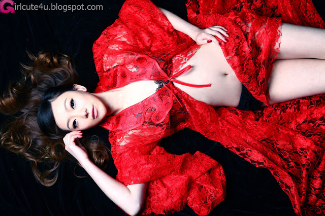5 Charming red-very cute asian girl-girlcute4u.blogspot.com