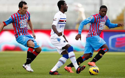 Catania-Sampdoria 3-1 highlights