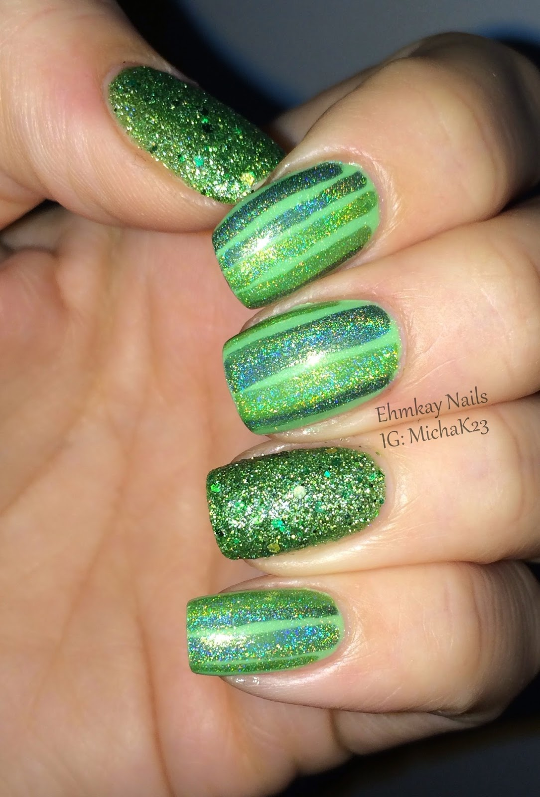 ehmkay nails: Easy St. Patrick\'s Day Nail Art with Red Dog Designs ...
