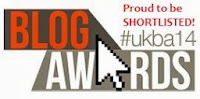 I've been shortlisted in the National UK Blog Awards!