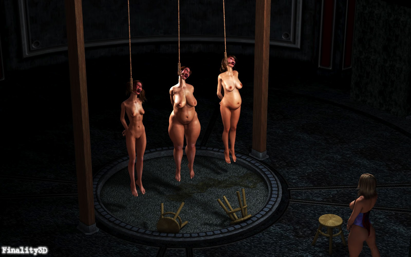 Goddess! Hot bdsm execution hanging was