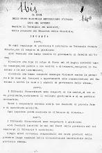 Documento siglato da Piero Pisenti e Mussolini