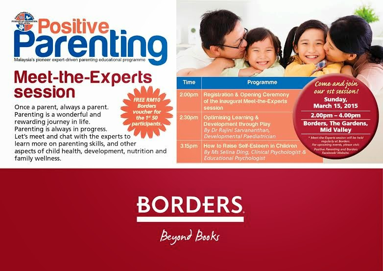 """Jemputan """"Meet the Experts Session"""" with Positive Parenting"""
