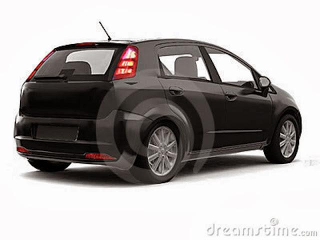 Car Back White Background