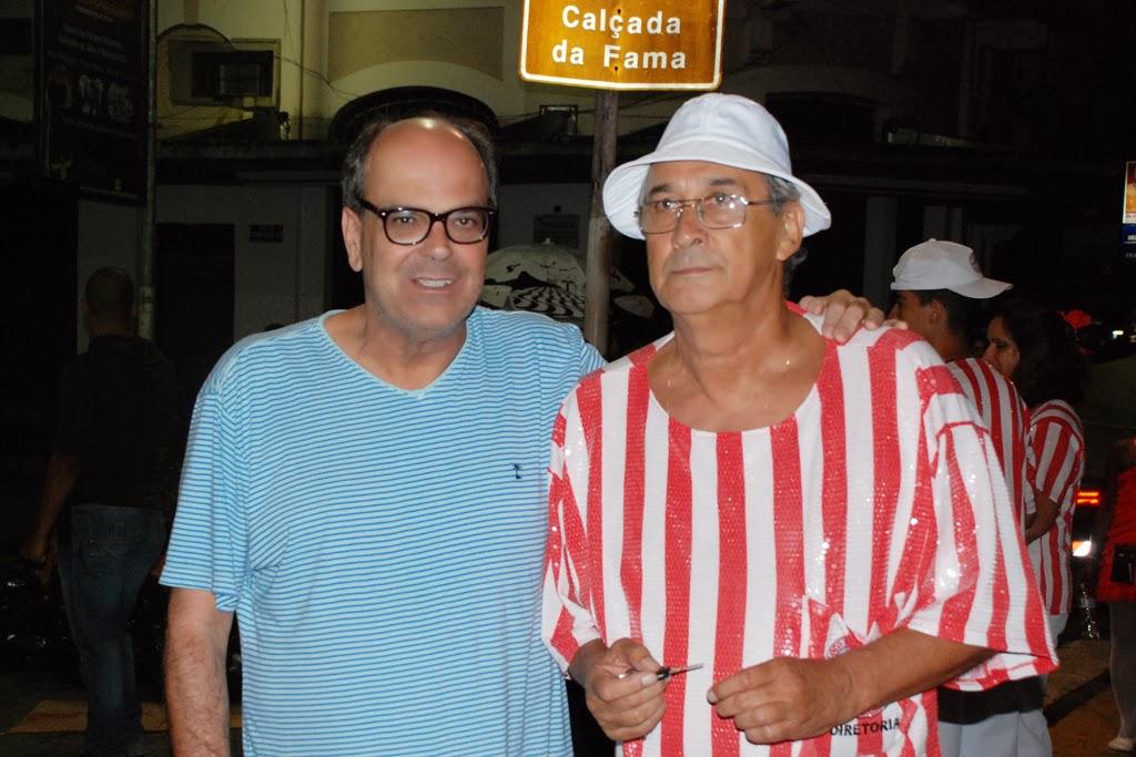 Secretário de Turismo Ronaldo Fialho e o presidente do Bebe Rindo, Walter Museu