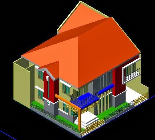 Desain Rumah 2 Lantai Di Tanah Bujur Sangkar