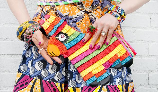charlotte olympia, piñata bag, novelty handbag