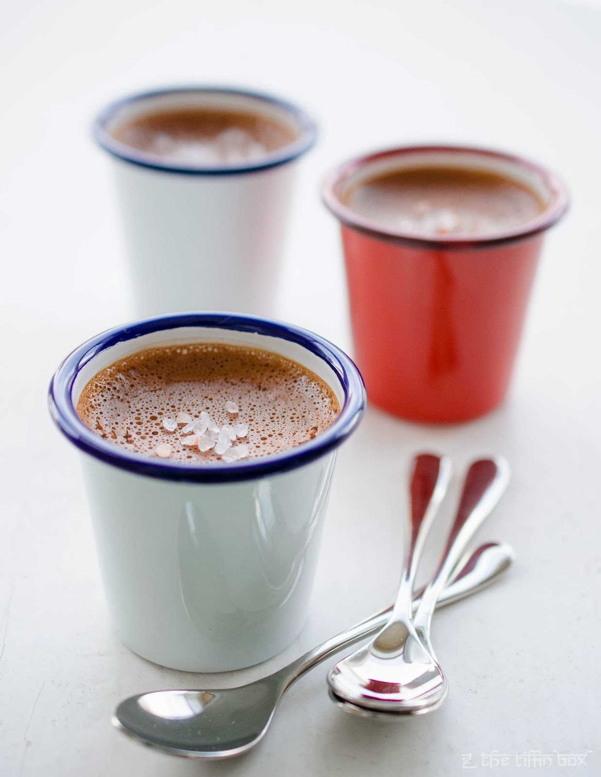 Chocolate Pots De Creme with Himalayan Pink Salt