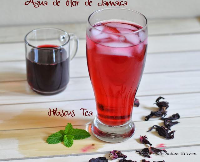 Agua Flor de Jamaica/Agua Fresca flor de Jamaica/Hibiscus Tea - Zesty ...