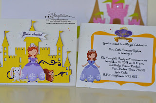 disney_princess  sofia_the_first handmade_invitations cricut silhouette_cameo
