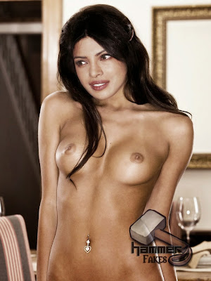 Topless Priyanka Chopra Playboy fake boobs