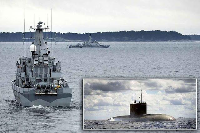 Navios suecos procuram submarinos russos em águas territoriais.