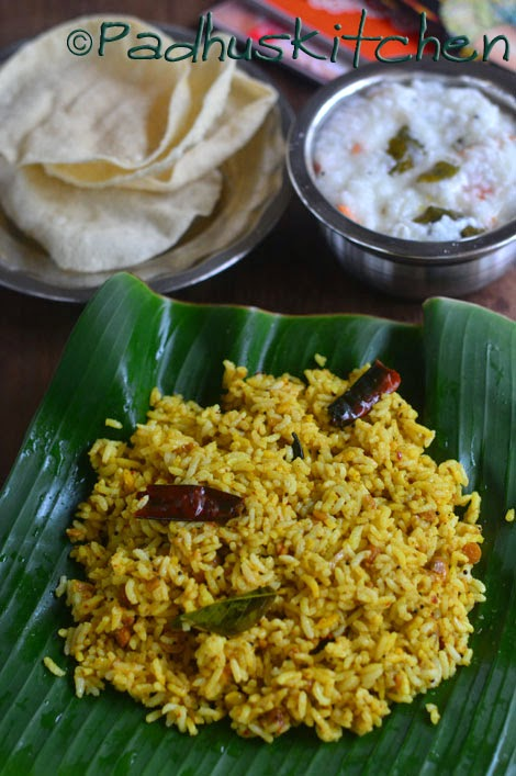 Tamarind rice-How to make Tamarind rice-Puliogare- Puliyodharai ...
