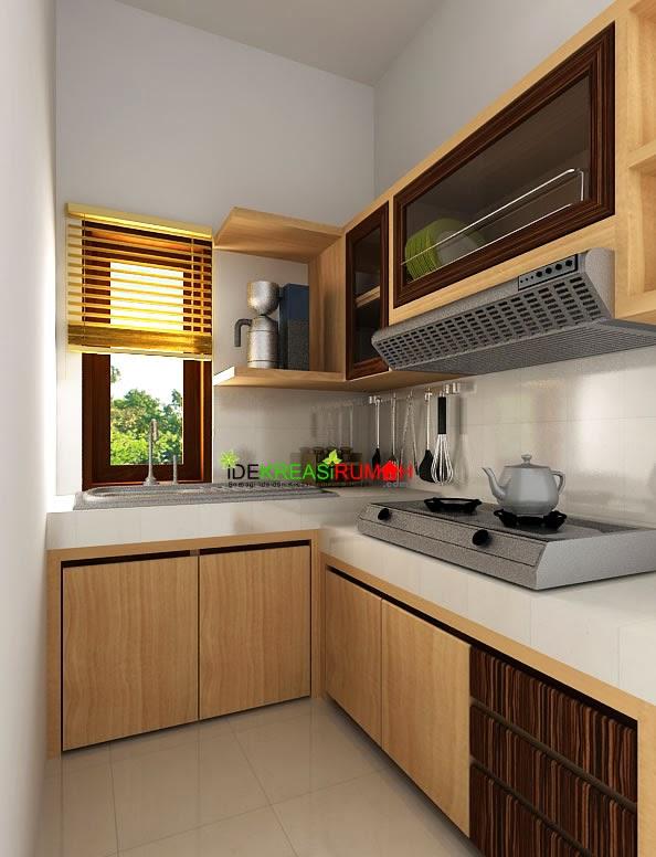 desain furniture kithen set minimalis dengan bentuk l pada