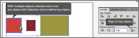 Define key object in Adobe Illustrator