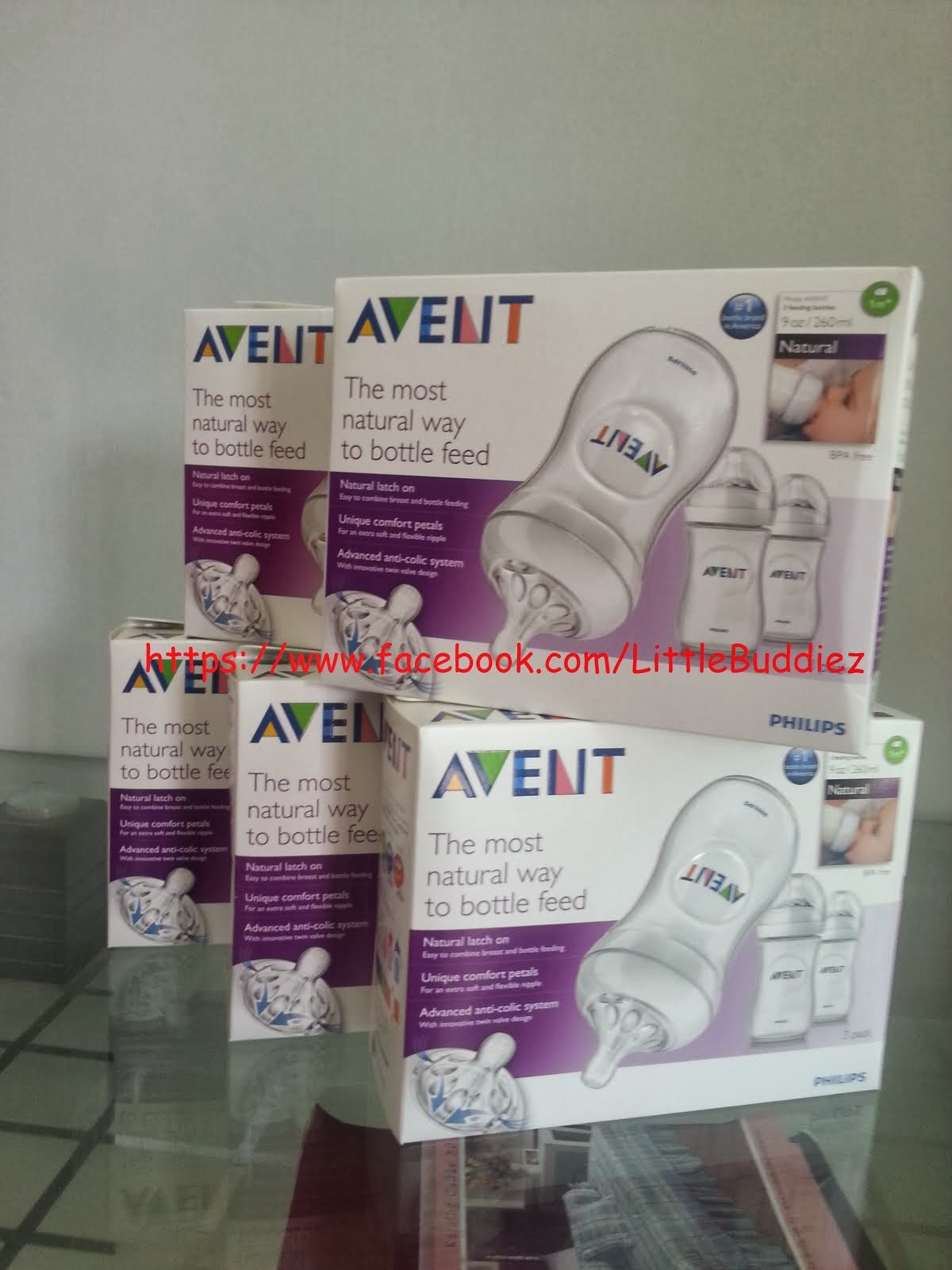 Original Philips Avent Natural Triple 9oz - New Design!!!