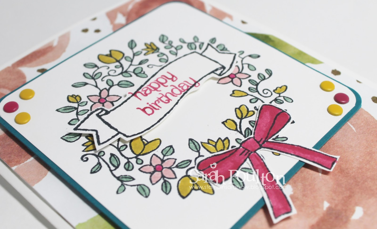 Stampin sarah circle of spring birthday greetings from stampin new weekly deals went live this morning they are only while stocks last so pop over to my online shop and have a look kristyandbryce Images