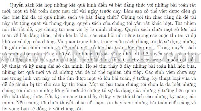 Bất đẳng thức Xưa và Nay của Titu - Bản dịch tiếng Việt của Dương Việt Thông