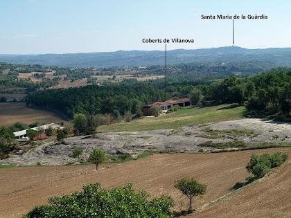 Panorama vers el sud-est des de les feixes de sobre La Caseta