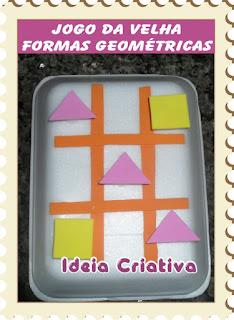Reciclagem Jogo da Velha Formas Geométricas