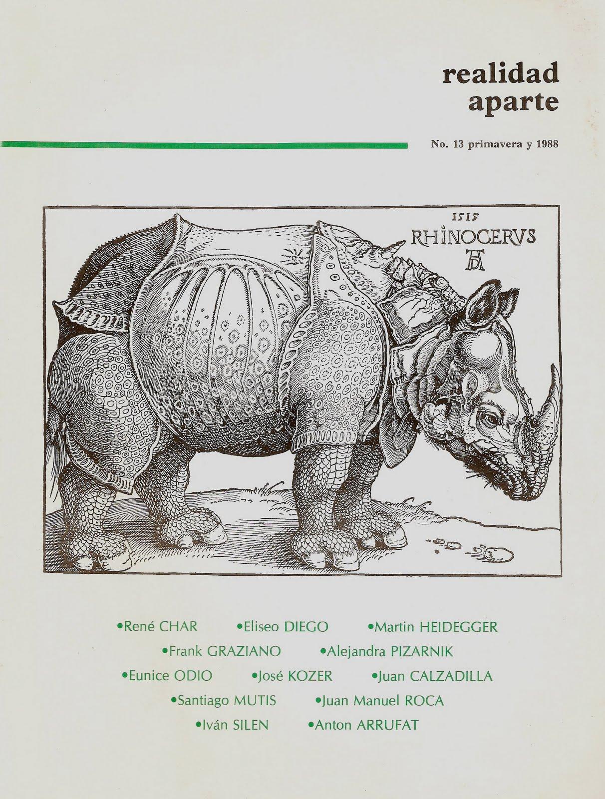 Realidad Aparte (revista ilustrada de poesía) No: 13, Primera vida