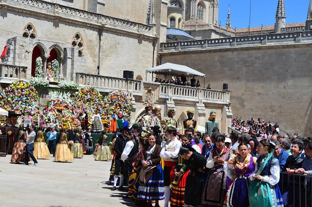 ofrenda de flores santa maría la mayor - burgos - san pedro 2013