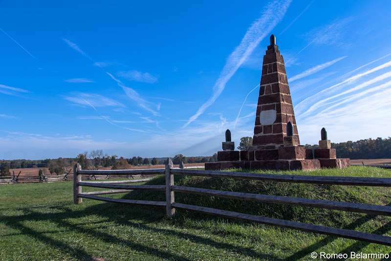 The Memory of the Patriots who fell at Bull Run Monument Manassas National Battlefield Park Northern Virginia