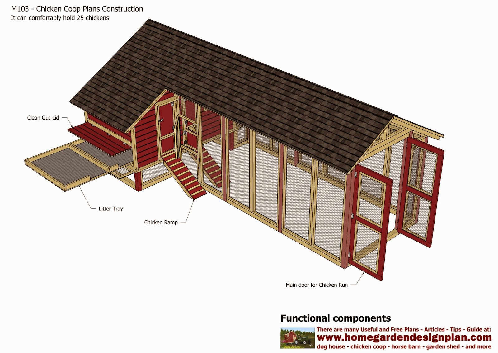 Home garden plans m103 chicken coop plans construction for Free coop plans