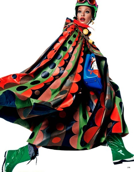 Valentino 2014 AW Xmas Circular Print Leather Cape