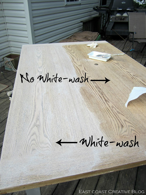 Refinished Dining Room Table Furniture Makeover East  : whitewash from eastcoastcreativeblog.com size 480 x 640 jpeg 102kB