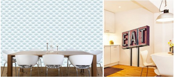 wall decals! part of a roundup of wall covering ideas for renters! lots of good ideas