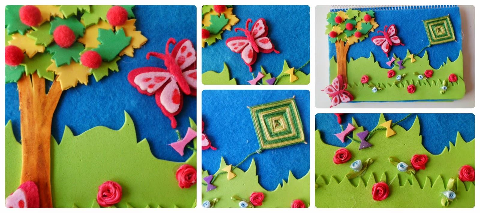 Materiales diy libreta decorada con goma eva para - Goma eva decorada ...