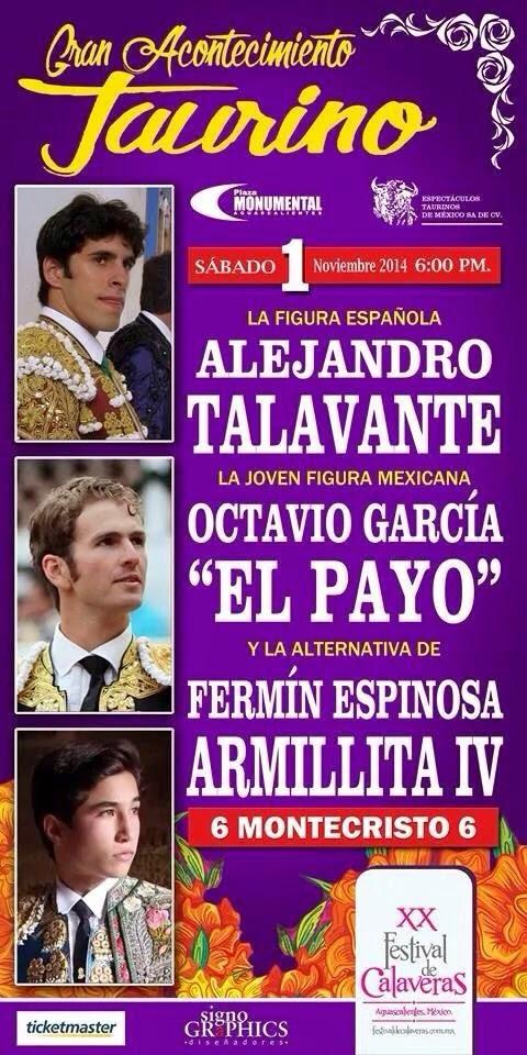 SPOT AGUASCALIENTES CORRIDA de CALAVERAS 1 de noviembre Monumental de Aguascalientes Gracias a Charly Lara