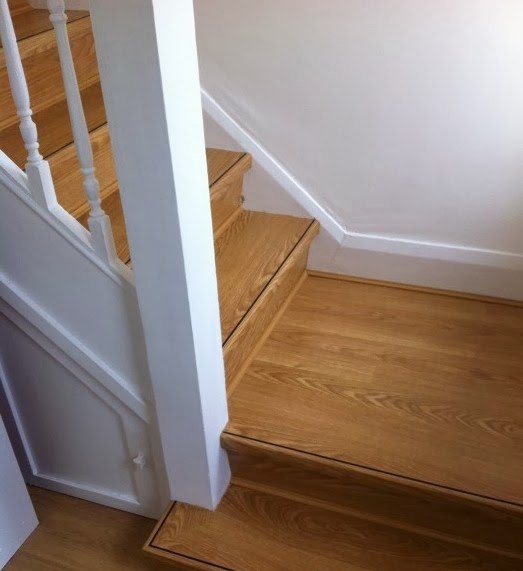 Laminate Floor Installation on Stair