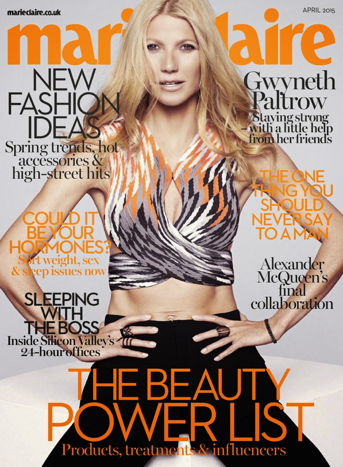 Actress, Singer @ Gwyneth Paltrow - Marie Claire UK, April 2015