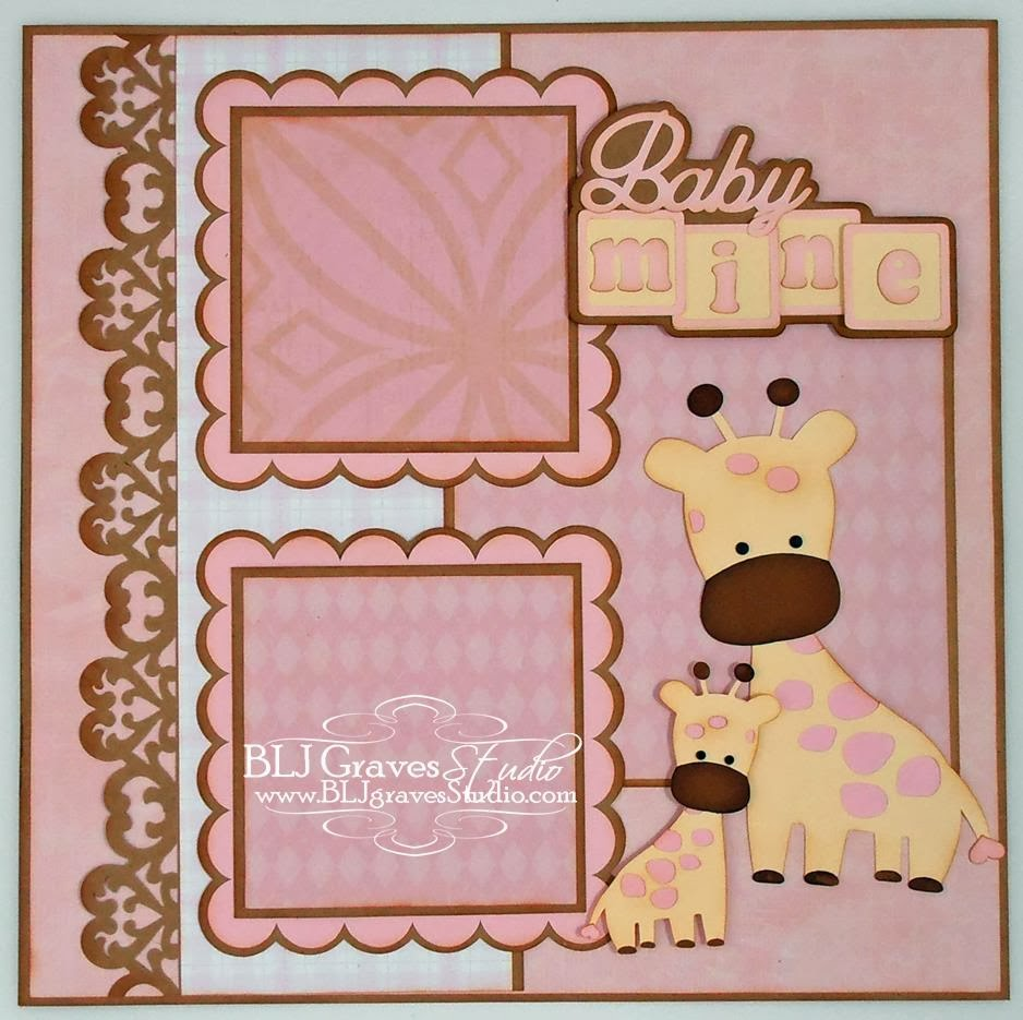 Scrapbook ideas for baby girl - This Layout Is Available On Ebay Or Etsy 1 Available