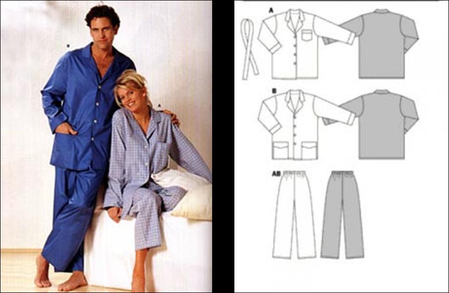 Patrón pijama hombre