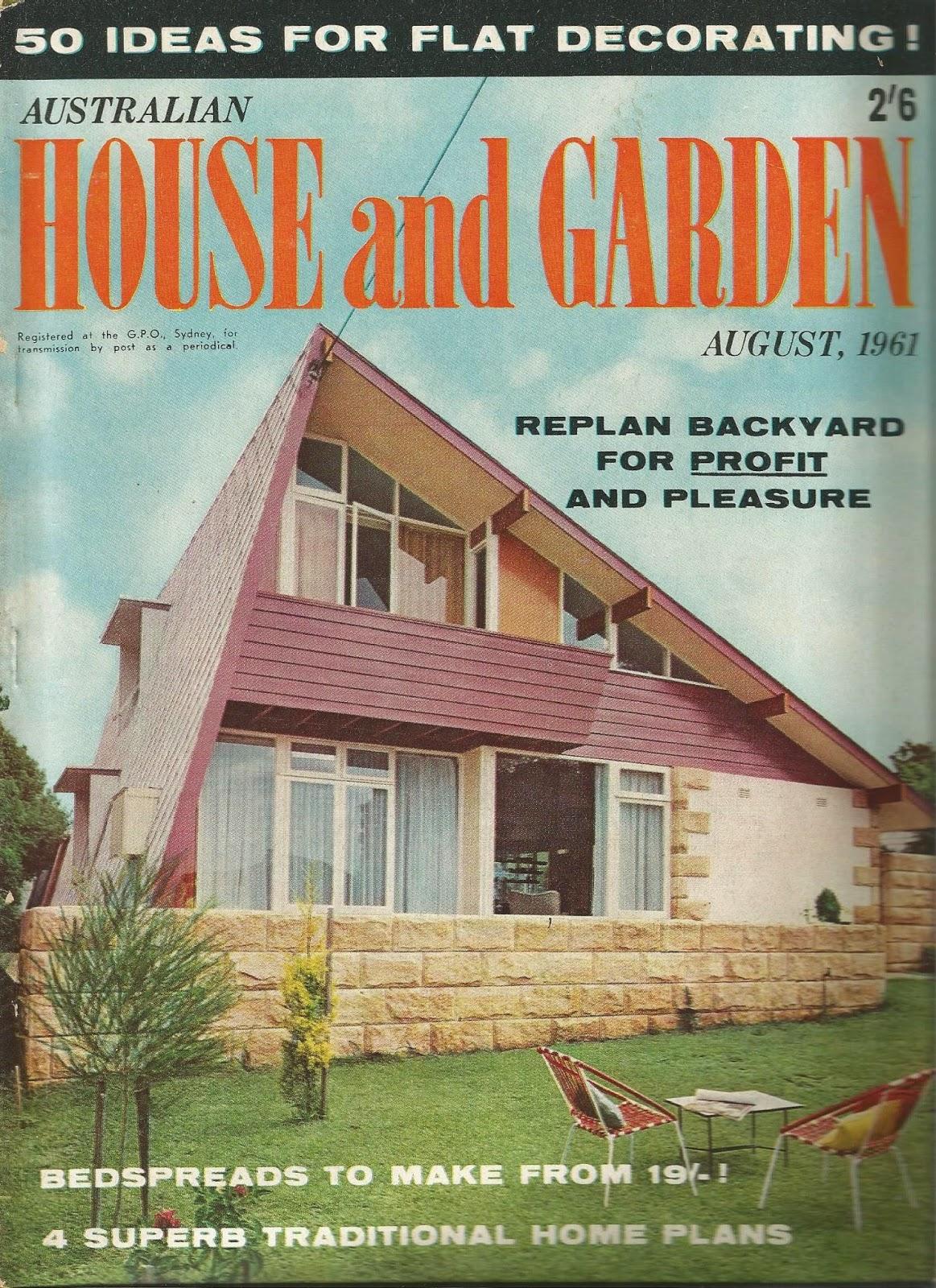 Australian House & Garden,  August 1961