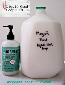How to Make Liquid Hand Soap from a bar of soap {DIY}