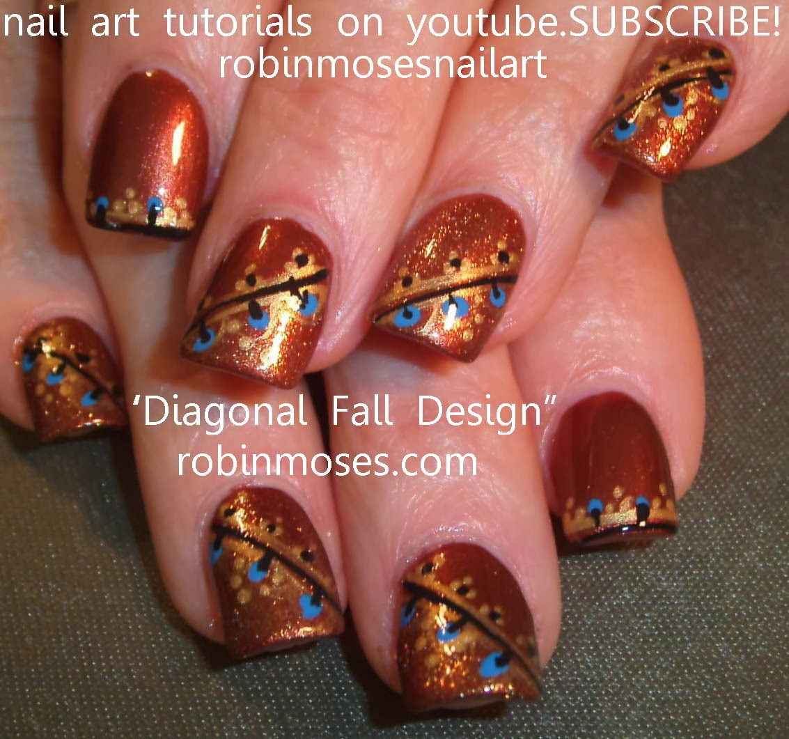 "Simple Fall Nail Designs: Robin Moses Nail Art: ""fall Nail Art"" ""fall Nails"" ""autumn"