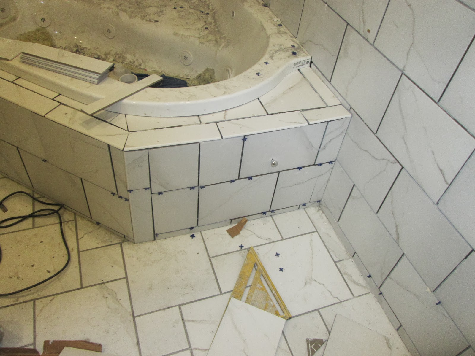 Ask tile excellence tile finished door ready to grout dailygadgetfo Choice Image