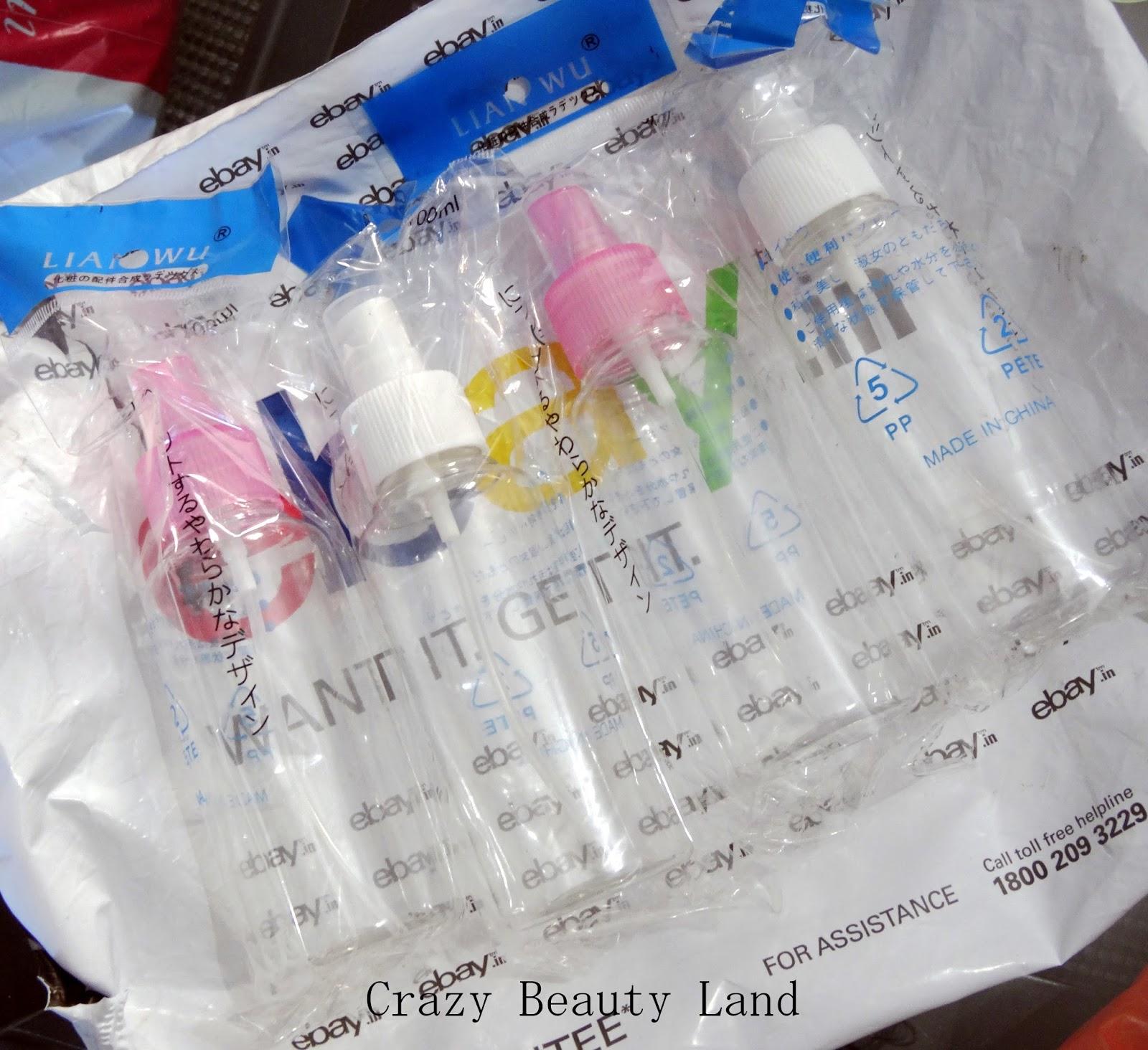 empty plastic spray bottles from ebay india really cheap yet chic