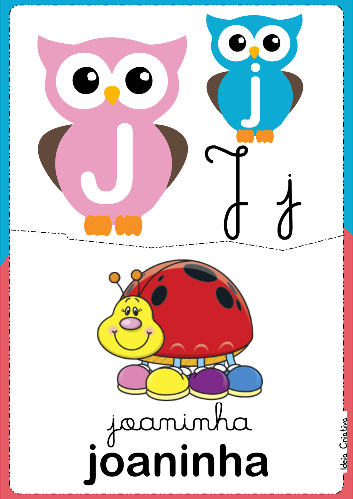 Alfabeto para imprimir grátis Corujinhas