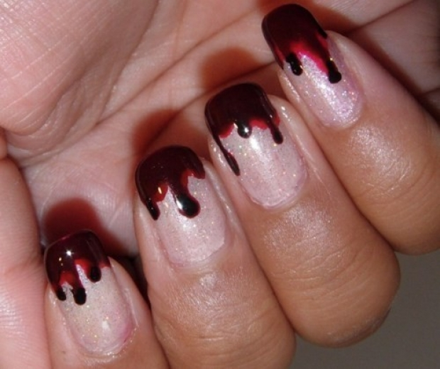 gossipandstars halloween nail