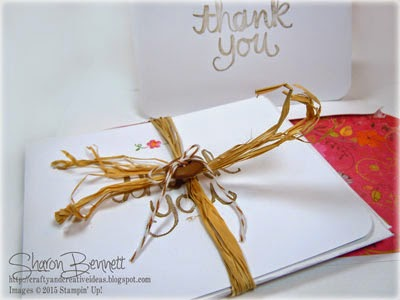 Stampin Up Thank You Hostess Gift Bundle of cards