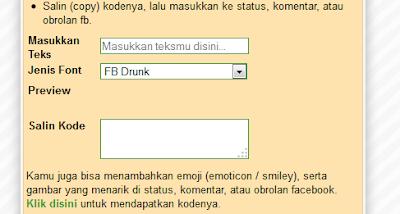 Membuat Teks Warna Untuk Status Komentar Dan Chat Facebook Minisit