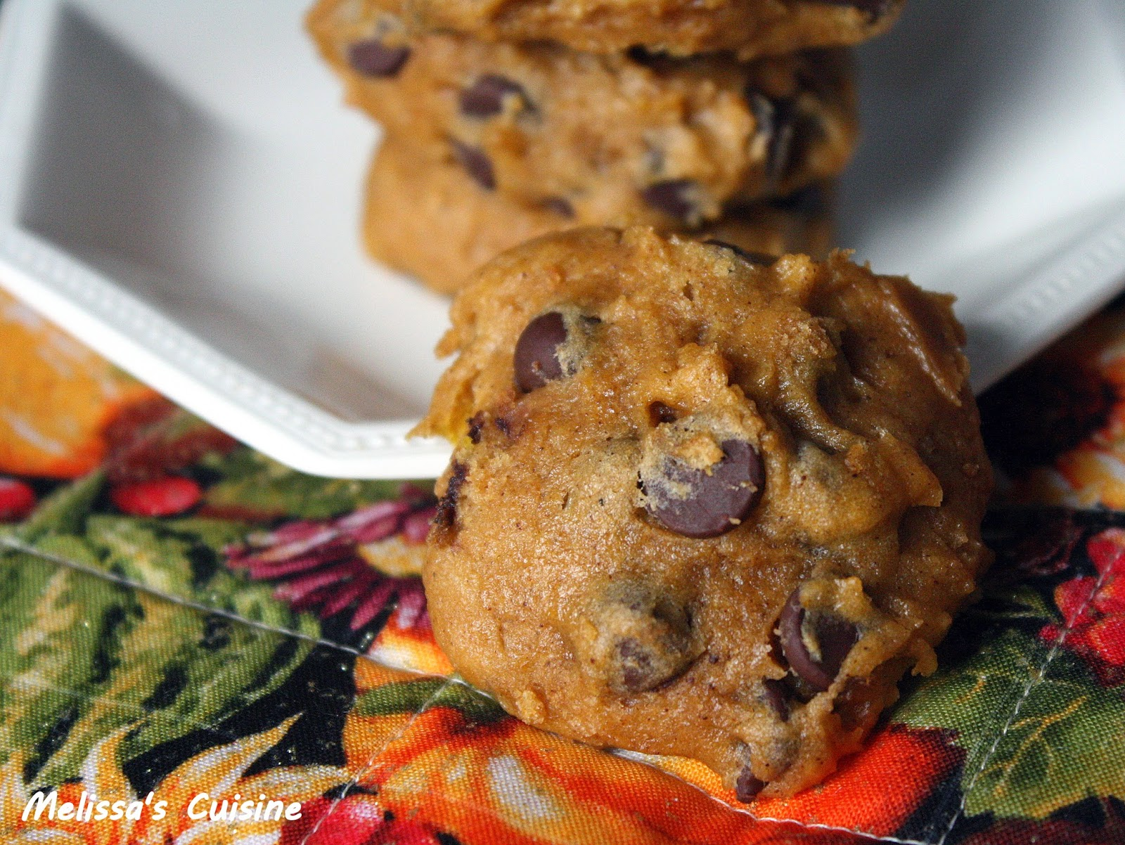Melissa's Cuisine: Pumpkin Chocolate Chip Cookies